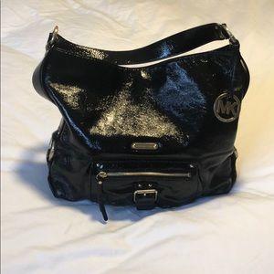 Black Patent Leather Michael Kors hobo